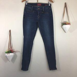 Lucky Brand Charlie Super Skinny ankle zipper jean